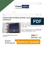 L'Università di Urbino premia i Meritevoli - Vivere Urbino.it, 8 aprile 2019