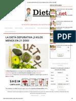 La Dieta Depurativa ¡3 Kilos Menos en 21 Días! 【2018】