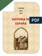EBAU2019 Historia de España- Textos