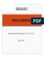Chapter 13 Partial Derivatives 2019