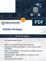 Good Debating Practices notes