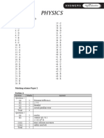 SPM Higher Education Physics Marking Scheme