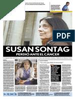 Portada Revista Diario Monitor (Susan Sontag)
