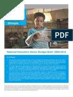 UNICEF Ethiopia -- 2017 -- Education Budget Brief
