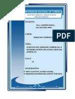Fuentes Del Derecho Comercial e Interrelación Con Otras Ciencias Jurídicas.