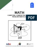 Math 6 DLP 49 Computing Common Percentage Problems Mentally