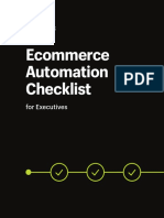 Ecommerce Automation Checklist for Executives