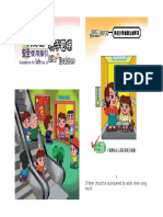 Guidelines for Safe Use of Lifts and Escalators (English Translation)
