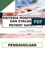 kriteria patient safety