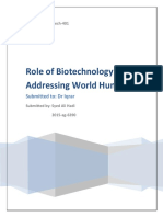Application of Biotechnology