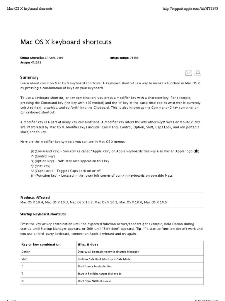 Mac Os X Keyboard Shortcuts Finder Software Keyboard Shortcut