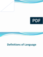 SEE 3 Definitons of Language