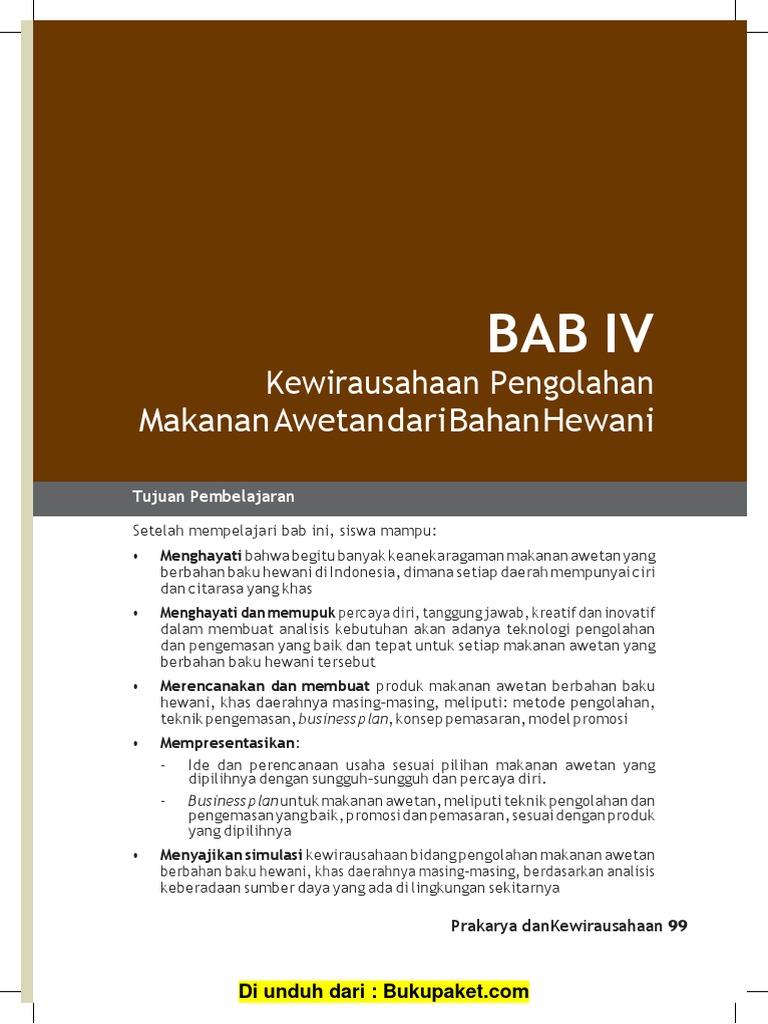 Bab 4 Kewirausahaan Pengolahan Makanan Awetan Dari Bahan Hewani Converted Docx