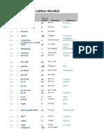 Objective First4 Wordlist German 1