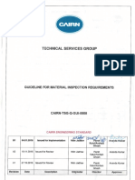 CAIRN TSG Q GUI 0005 B1 Guideline for Material Inspection Requirements