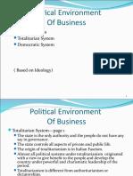 Political Environment Ppt