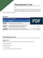 Jet Propulsion Thermodynamic Cycles