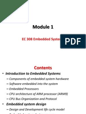 Ec 308 Embedded Systems Embedded System Computer Program