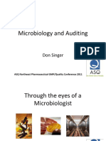Microbiology and Auditing