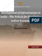 Development of Infrastructure in India the Vehicle for Developing Indian Economy 0