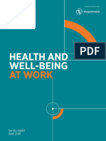 Health and Well-being 2019 Report