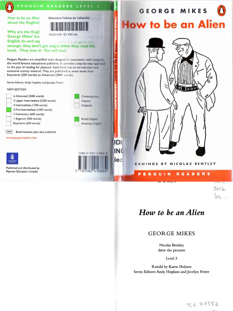 How to Be an Alien - George Mikes - Penguin Readers Level 3 - Scan ...