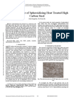 Tensile Behavior of Spheroidizing Heat Treated High Carbon Steel