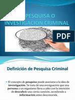 La Pesquisa Criminal Clase