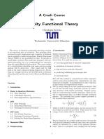 Kowitz_paper Crash Course on DFT