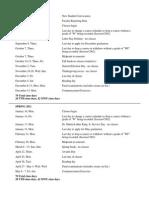 USC Academic Calendar 2010 2011