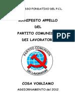 Manifesto PCL - Cosa Vogliamo - 2012
