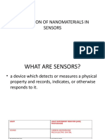 Application of Nanomaterials in Sensors
