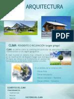 1. Clima y Arquitectura