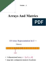 Module 2 Part1 ArrayMatrics