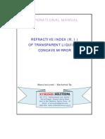 08_Refractive Index of Transparent Liquid by Concave Mirror