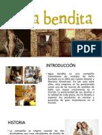 Estudio de La Marca Agua Bendita Por Sandra Sarmiento Castillo