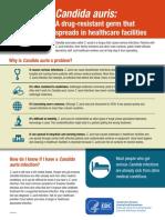 Candida auris fact sheet