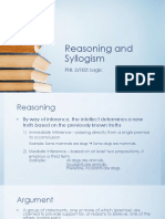 Reasoning and Syllogism PHL 2 102 Logic