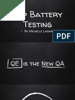 App Battery Testing