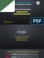 INDEPENDIZACION-Y-SUBDIVISION-1.pptx