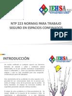 NTP 223 Normas Para Trabajo Seguro en Espacios Confinados