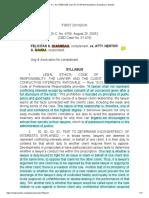 64 Quiambao v. Bamba_A.C. No. 6708 (CBD Case No. 01-874) (Resolution)