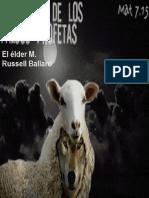 Guardaos de Los Falsos Profetas y de Los Falsos Maestros