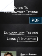 Exploratory Testing Using Heuristics