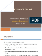 4 General Pharmacology Aliexcretion