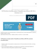 13 Pontos cruciais sobre Trabalho em Altura NR 35 e Anexos I e II.pdf
