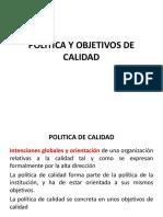 Clase 11 Politica y Objetivos de Calidad
