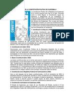 Historia de La Constitución Política de Guatemala