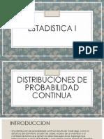 ESTADISTICA I Distribucion Continuo