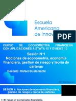 Sesión de Econometría  Sesión N°1